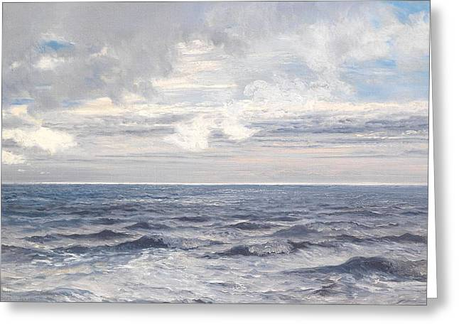 Maritime Greeting Cards - Silver Sea Greeting Card by Henry Moore