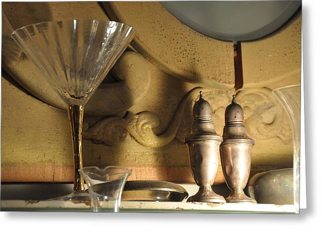 Interior Still Life Photographs Greeting Cards - Silver Shakers Greeting Card by Jan Amiss Photography