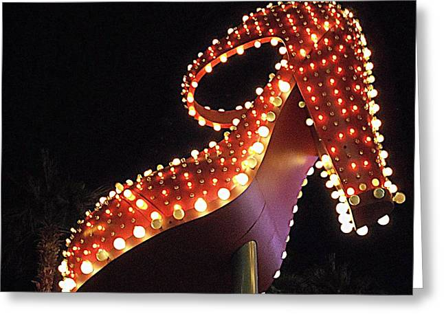 Glitter Gulch Greeting Cards - Silver Slipper Greeting Card by Randall Weidner