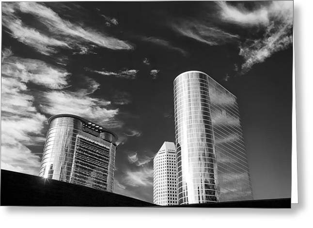 Business Greeting Cards - Silver Towers Greeting Card by Dave Bowman