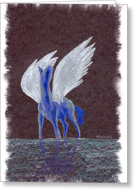 Silver Wings Greeting Card by Mark Schutter