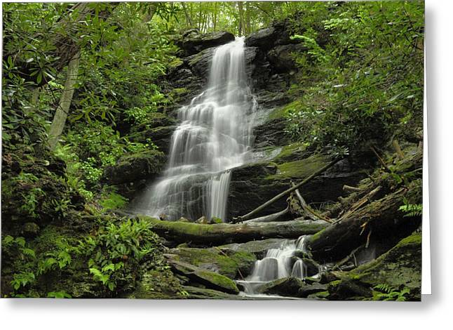 Stokes State Forest Greeting Cards - Silverspray Falls - Tillman Ravine Greeting Card by Stephen  Vecchiotti