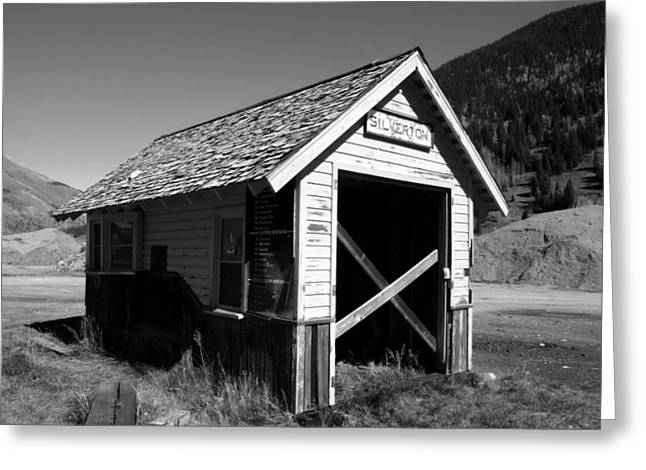 Silverton Greeting Cards - Silverton depot Greeting Card by David Lee Thompson