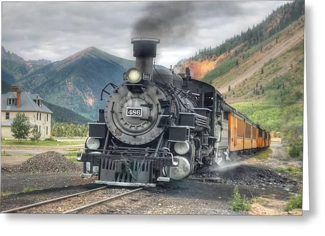 Narrow Gauge Steam Train Greeting Cards - Silverton Wye Greeting Card by Ken Smith
