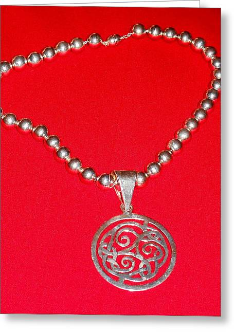 Bass Jewelry Greeting Cards - Silverwork Greeting Card by Whitey Martin