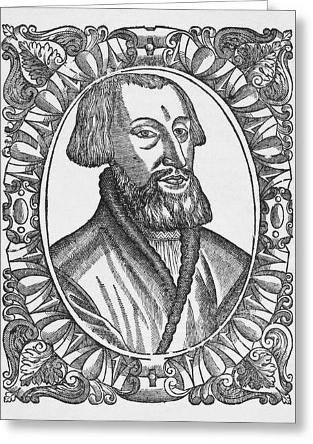 1500s Greeting Cards - Simon Grynaeus, German Theologian Greeting Card by Middle Temple Library