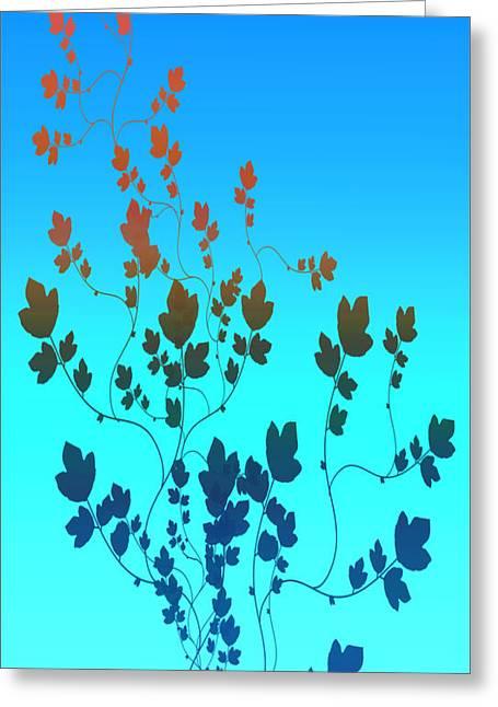 Leaves Digital Art Greeting Cards - Simple leaves 2 Greeting Card by Evelyn Patrick
