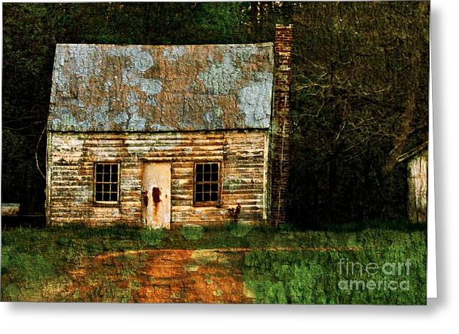 Shed Digital Art Greeting Cards - Simple Life Greeting Card by Trish Clark