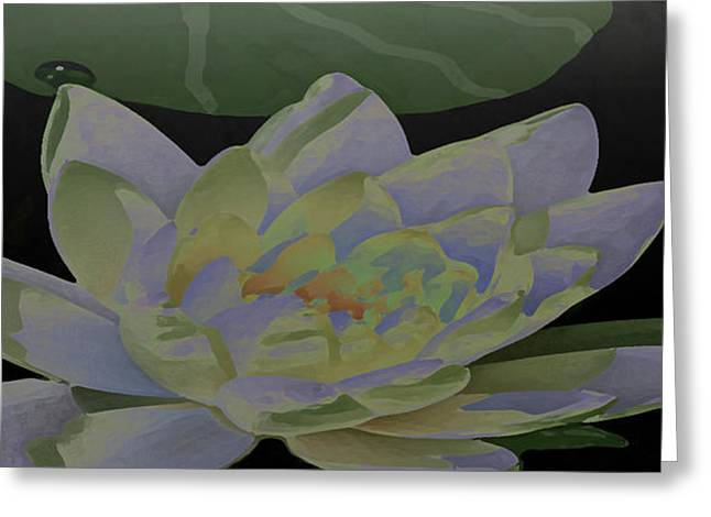 Photograph Of Artist Paintings Greeting Cards - Simple Lily Greeting Card by Debra     Vatalaro