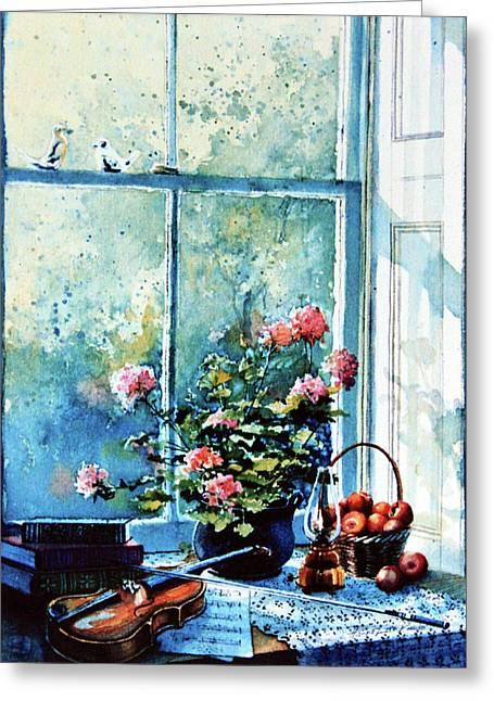 Flower Still Life Prints Greeting Cards - Simple Pleasures Greeting Card by Hanne Lore Koehler