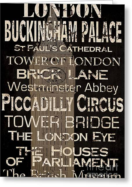 Buckingham Palace Greeting Cards - Simple Speak London Greeting Card by Grace Pullen