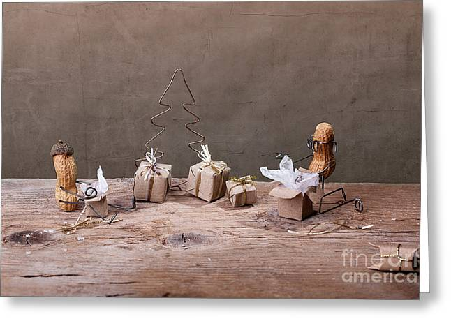 Nut Greeting Cards - Simple Things - Christmas 05 Greeting Card by Nailia Schwarz