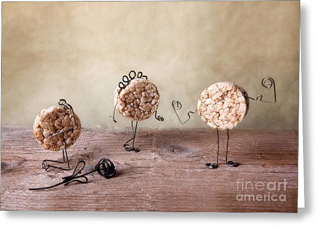 Figure Pose Greeting Cards - Simple Things 09 Greeting Card by Nailia Schwarz