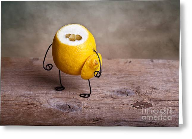 Lemon Art Greeting Cards - Simple Things 12 Greeting Card by Nailia Schwarz
