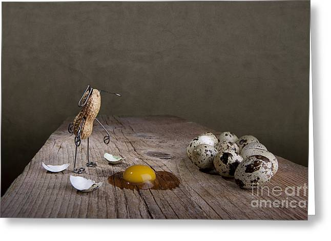 Quail Greeting Cards - Simple Things Easter 05 Greeting Card by Nailia Schwarz