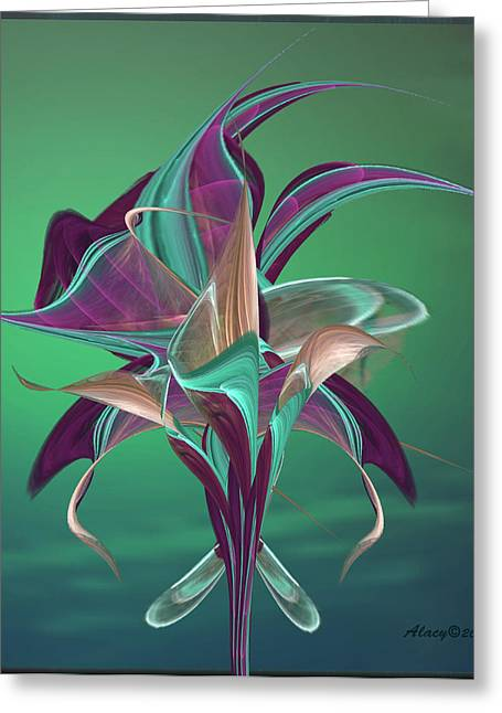 Lacy Contemporary Greeting Cards - Simply Elegant Greeting Card by Anne Lacy