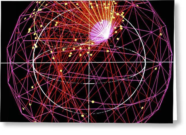 Sudbury Greeting Cards - Simulated Neutrino Event Greeting Card by Lawrence Berkeley Laboratory