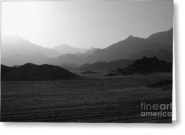 Sinai Mountain Greeting Cards - Sinai Desert and Mountains Greeting Card by Heiko Koehrer-Wagner