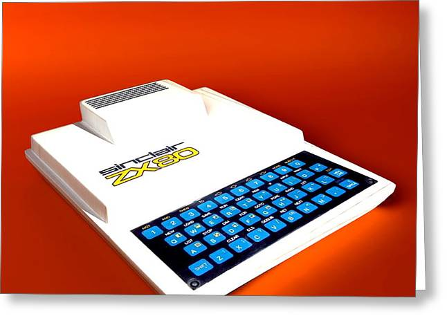 Sinclair Zx80 Personal Computer Greeting Card by Christian Darkin