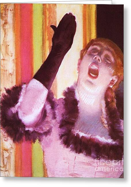 Cardboard Greeting Cards - Singer with the Glove Greeting Card by Pg Reproductions