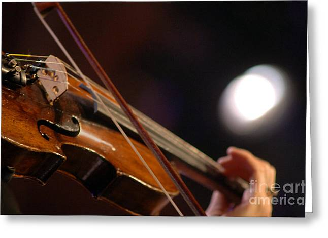 Live Music Greeting Cards - Singing Bow Greeting Card by Gib Martinez