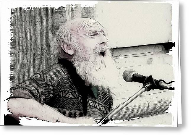 Singing The Old Songs Greeting Card by Tilly Williams