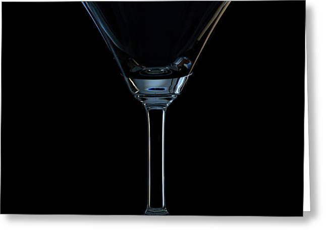 single empty wine glass Greeting Card by Kobchai Sukruean