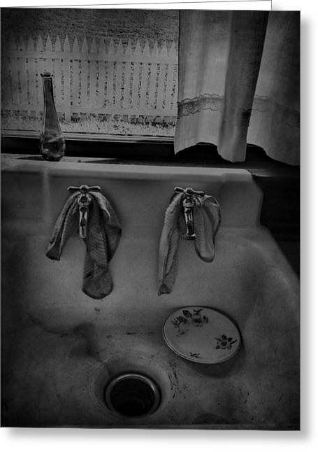 Faucet Greeting Cards - Sinking Tears Greeting Card by Jerry Cordeiro