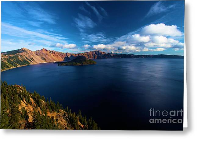 Craters Greeting Cards - Sinott Crater Lake View Greeting Card by Adam Jewell