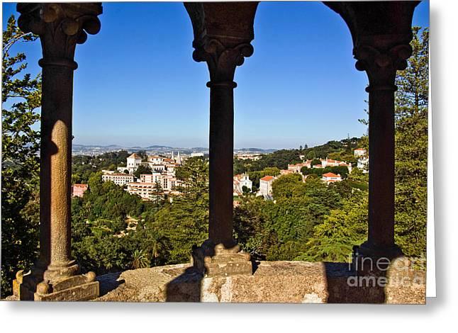 Sintra Balcony Greeting Card by Carlos Caetano