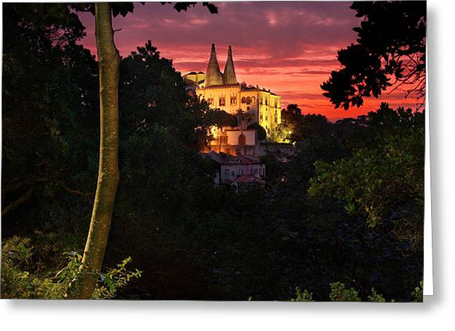 Sintra Palace Greeting Card by Carlos Caetano