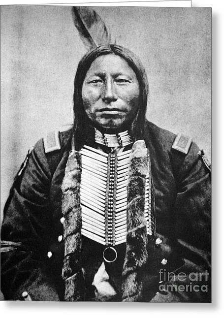19th Century America Photographs Greeting Cards - Sioux: Crow King Greeting Card by Granger