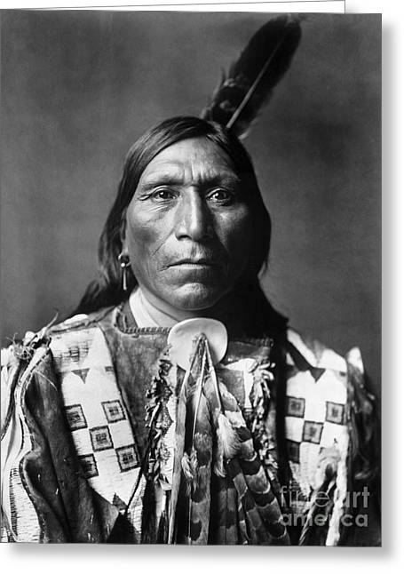1907 Greeting Cards - SIOUX MAN, c1907 Greeting Card by Granger
