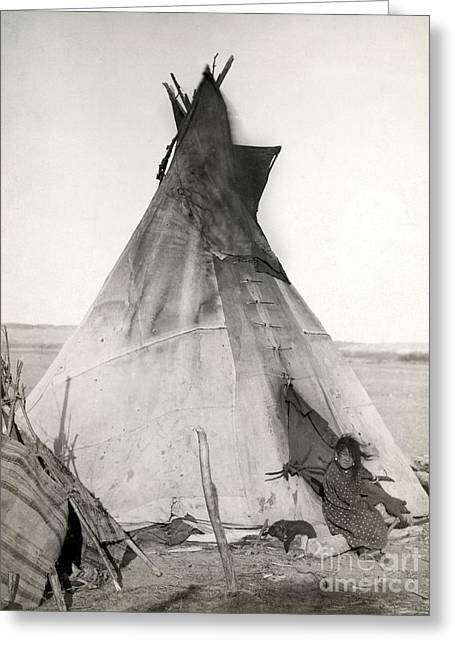 1891 Greeting Cards - Sioux Tipi, 1891 Greeting Card by Granger