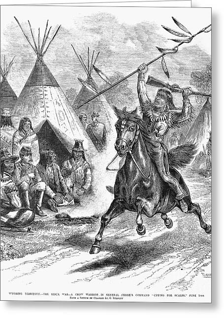 1876 Greeting Cards - Sioux War, 1876 Greeting Card by Granger