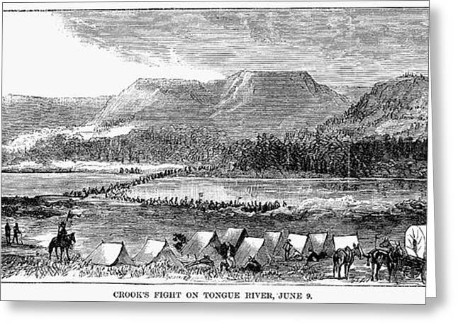 1876 Greeting Cards - Sioux War: Tongue River Greeting Card by Granger