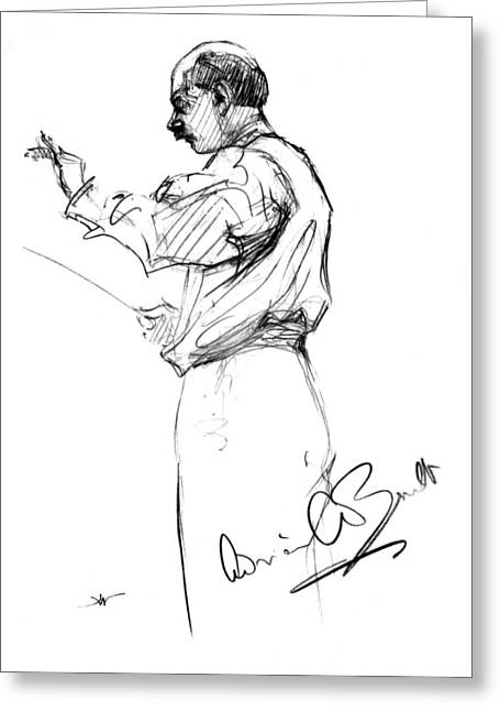 Autograph Greeting Cards - Sir Adrian Boult Greeting Card by Granger