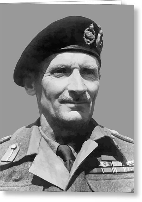 Second Greeting Cards - Sir Bernard Law Montgomery  Greeting Card by War Is Hell Store