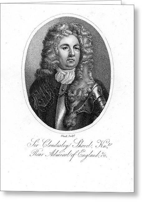 Aquatint Greeting Cards - Sir C. Shovell (1650-1707) Greeting Card by Granger