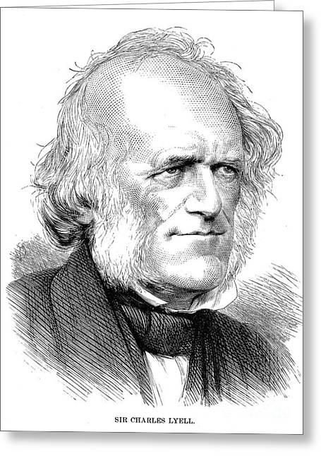 Sideburns Greeting Cards - Sir Charles Lyell Greeting Card by Granger