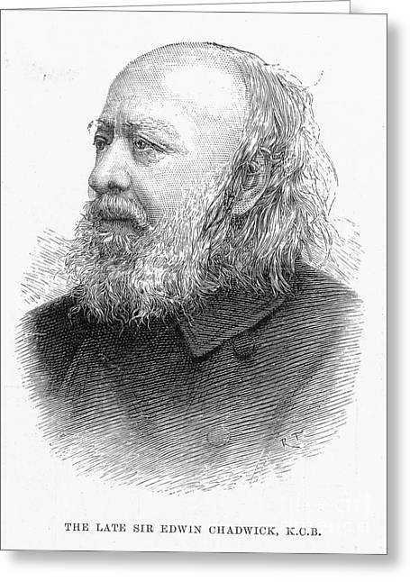 Reformer Greeting Cards - Sir Edwin Chadwick Greeting Card by Granger