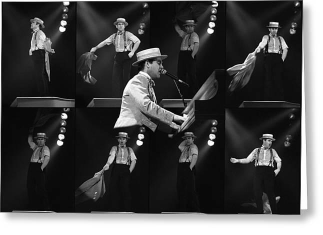 Sir Elton John 9 Greeting Card by Dragan Kudjerski