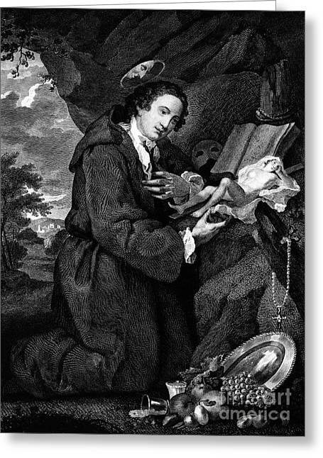 1750s Greeting Cards - Sir Francis Dashwood Greeting Card by Granger