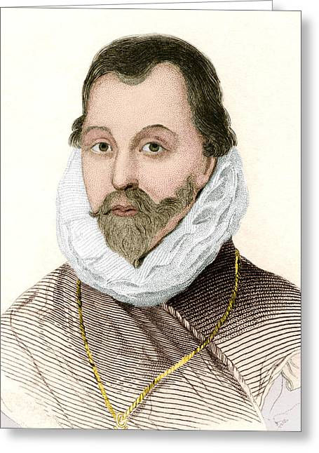 Buccaneer Greeting Cards - Sir Francis Drake, English Explorer Greeting Card by Sheila Terry