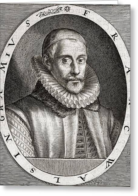 Heroologia Anglica Greeting Cards - Sir Francis Walsingham, English Statesman Greeting Card by Middle Temple Library