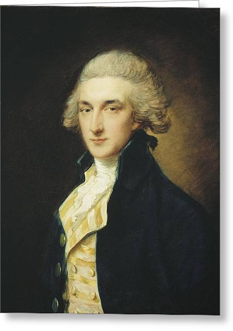 18th Century Greeting Cards - Sir John Edward Swinburne Greeting Card by Thomas Gainsborough