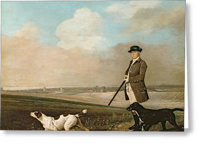 Pointer Greeting Cards - Sir John Nelthorpe Greeting Card by George Stubbs