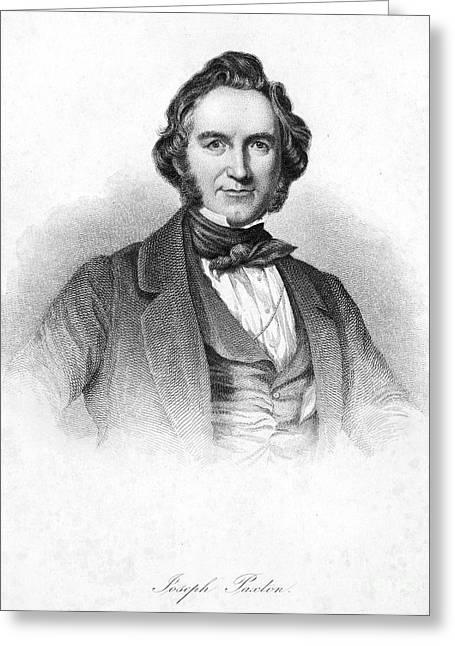Sideburns Greeting Cards - Sir Joseph Paxton Greeting Card by Granger