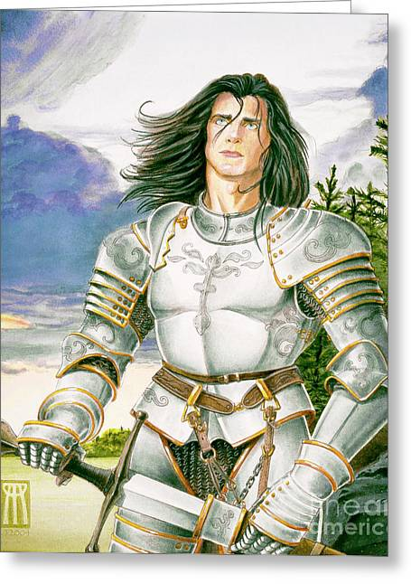 Camelot Mixed Media Greeting Cards - Sir Lancelot Greeting Card by Melissa A Benson