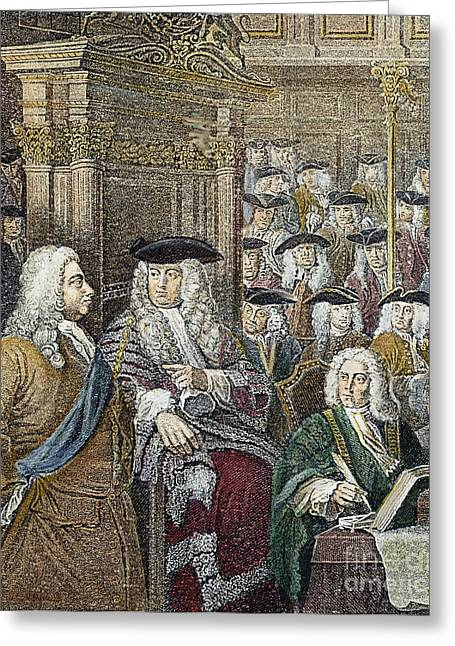 Statesman Greeting Cards - Sir Robert Walpole (1676-1745) Greeting Card by Granger